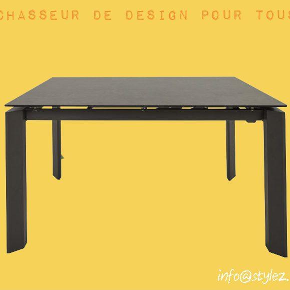 table carré design céramique noir