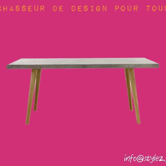 table industrielle moderne bois béton