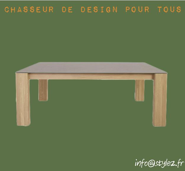 table rectangulaire grande bois design