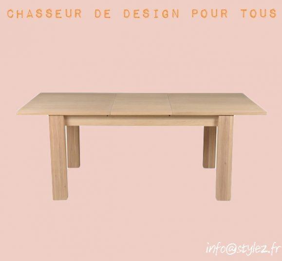 table rallonge bois marron clair