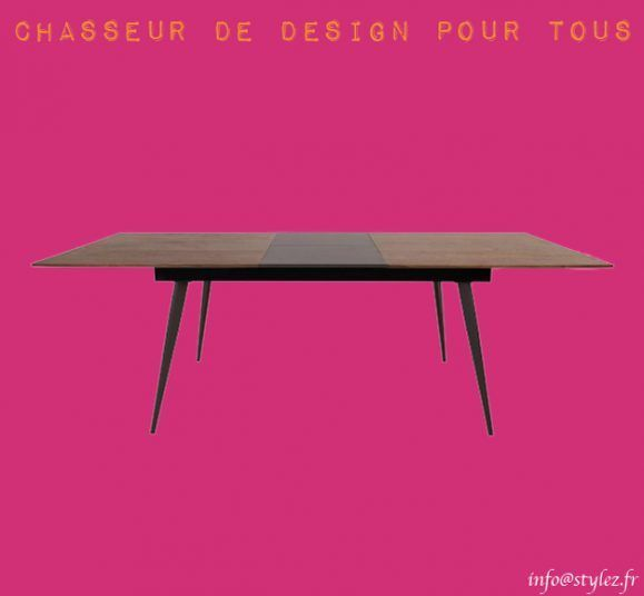 table familiale noyer rallonge design