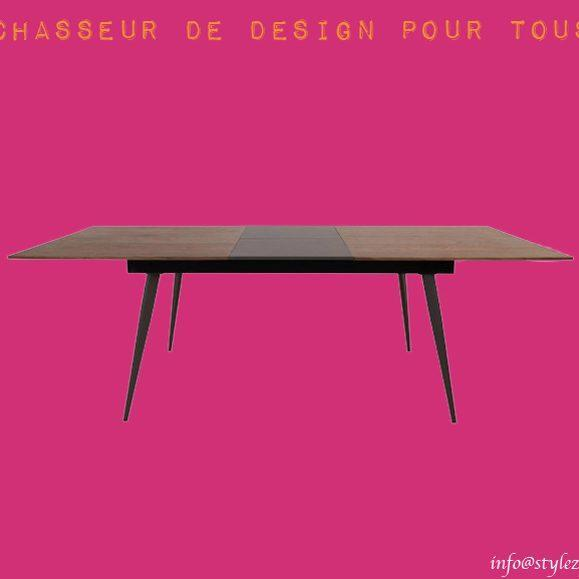 table familiale noyer rallonge design