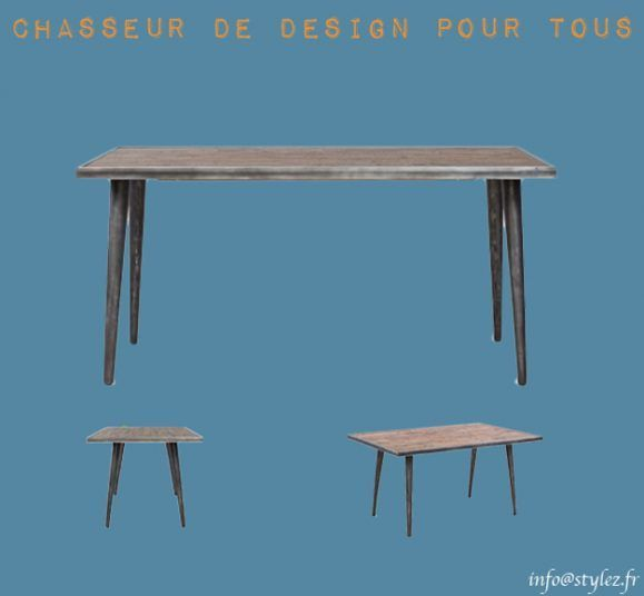 table originale industrielle bois métal