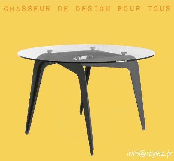 table design plateau verre qualité