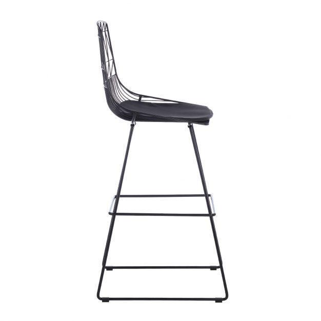 chaise en hauteur noir design