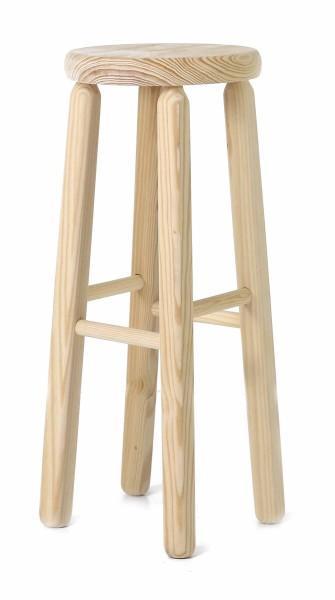 Tabouret en bois naturel 2