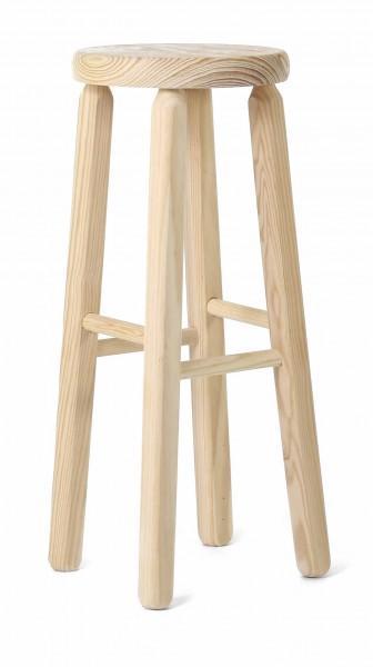 Tabouret en bois naturel 3