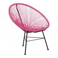 chaise rose prune acapulco