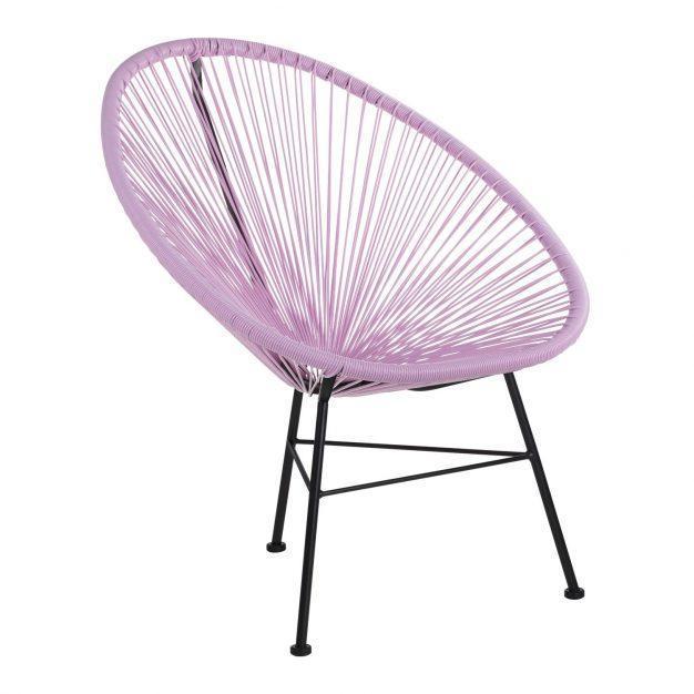 fauteuil violet lavande