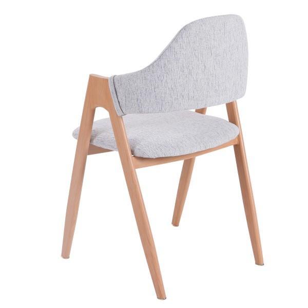 chaise lin bois scandinave clair