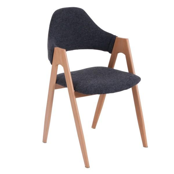 chaise confortable bois lin cosy