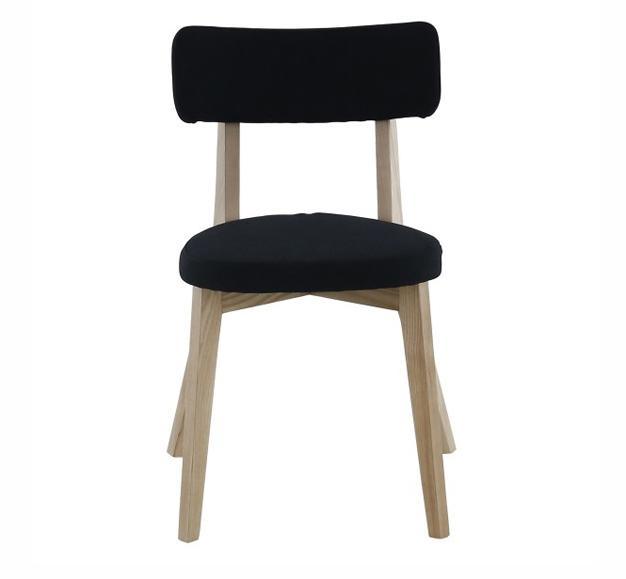 chaise noire alison