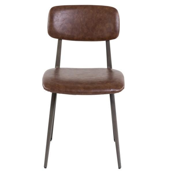 chaise industrielle moderne élégante marron