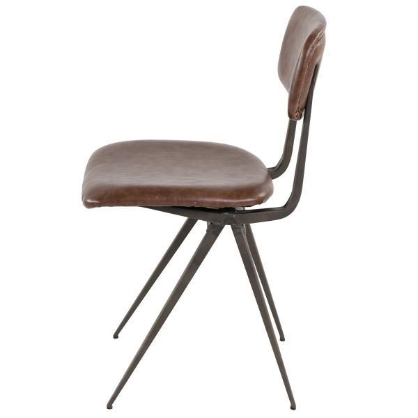 chaise vintage tendance assise marron