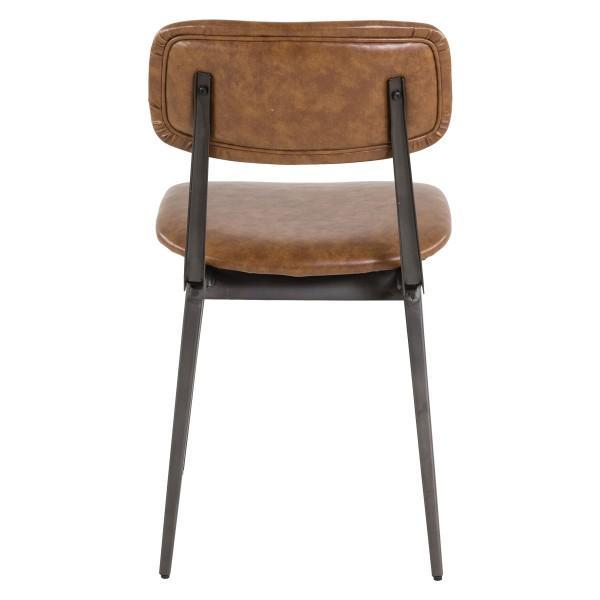 chaise haute qualité assise marron