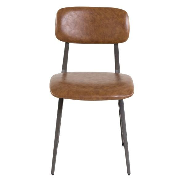 chaise vintage ancienne assise marron