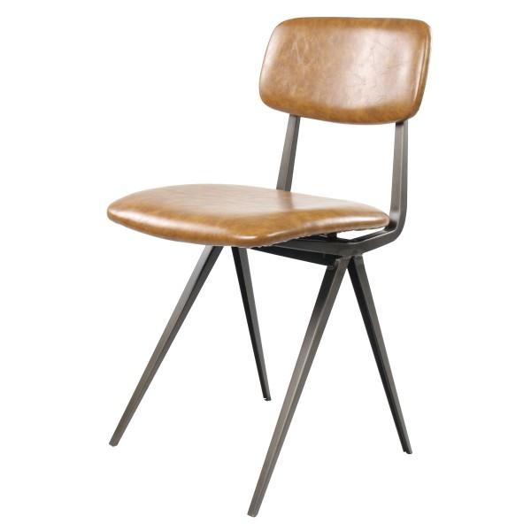 chaise vintage tendance marron clair