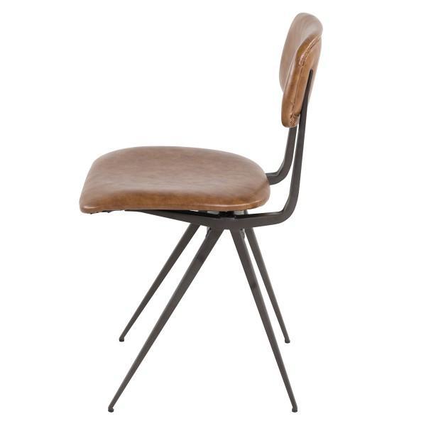 chaise ancienne cuir marron clair