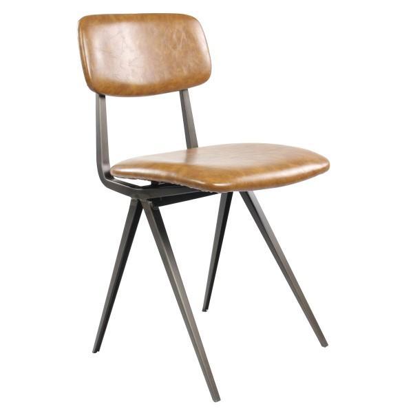 chaise vintage assise dossier marron