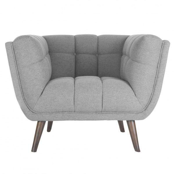 fauteuil confortable cosy gris clair