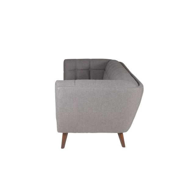 canapé large design piqué gris