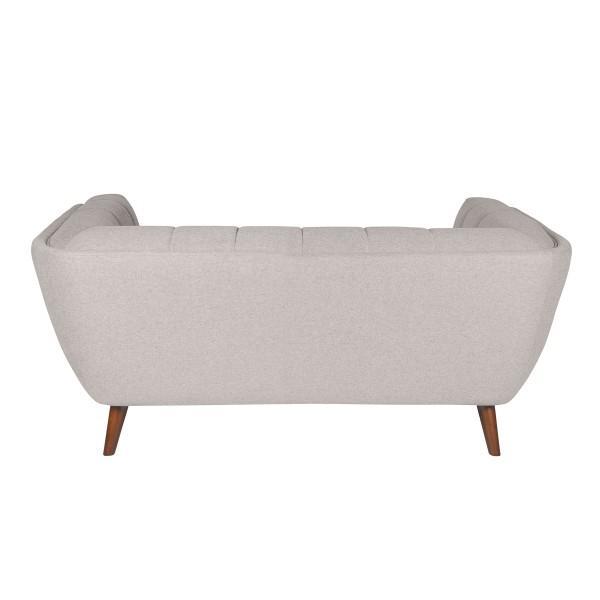 canapé arrondi élégant confortable gris