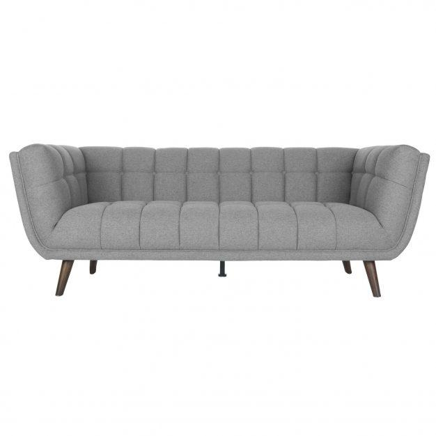 Canapé matelassé gris clair design
