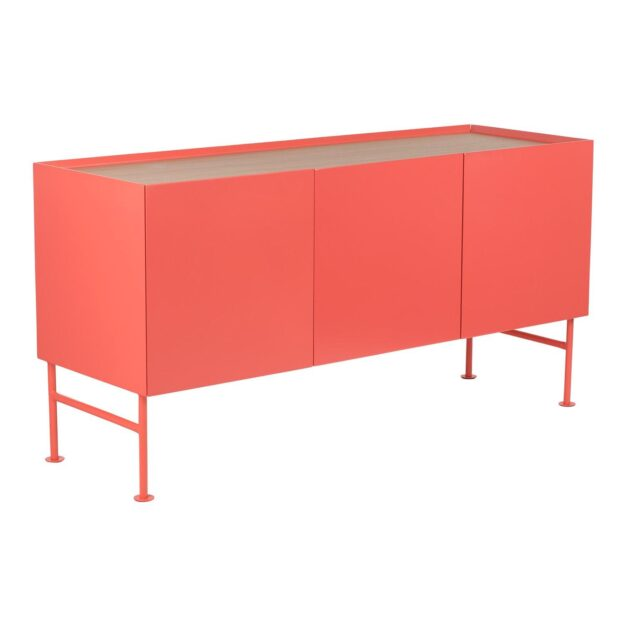 buffet rangements rouge pastel design