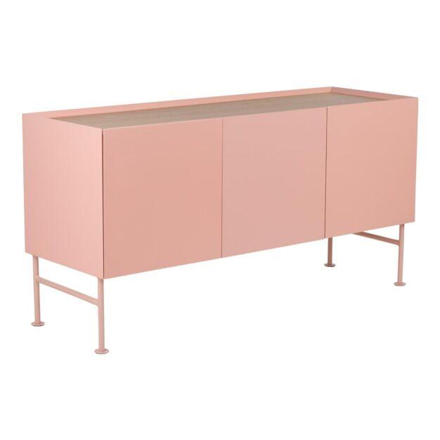 buffet rose pâle bois chêne