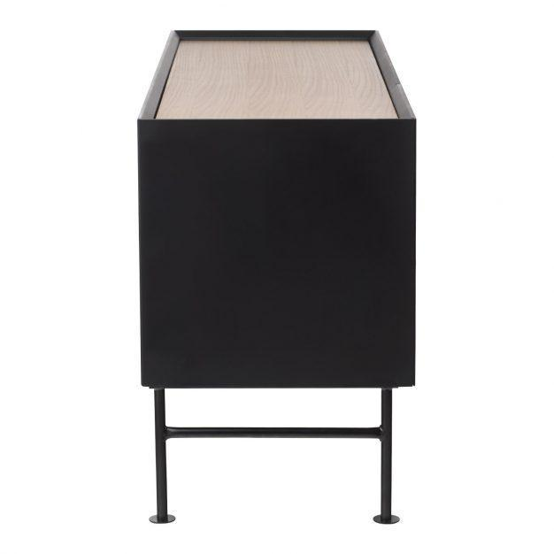buffet noir design bois chêne
