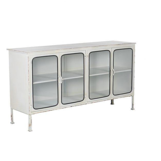 buffet vitré design blanc design