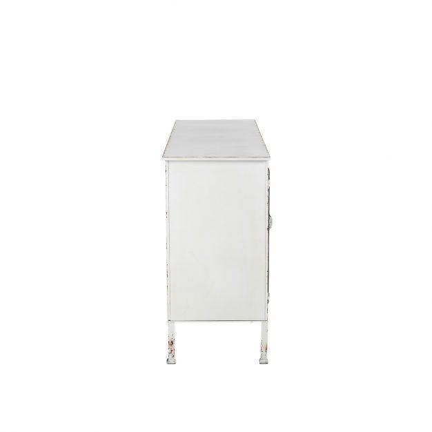 buffet spacieux pour rangements blanc