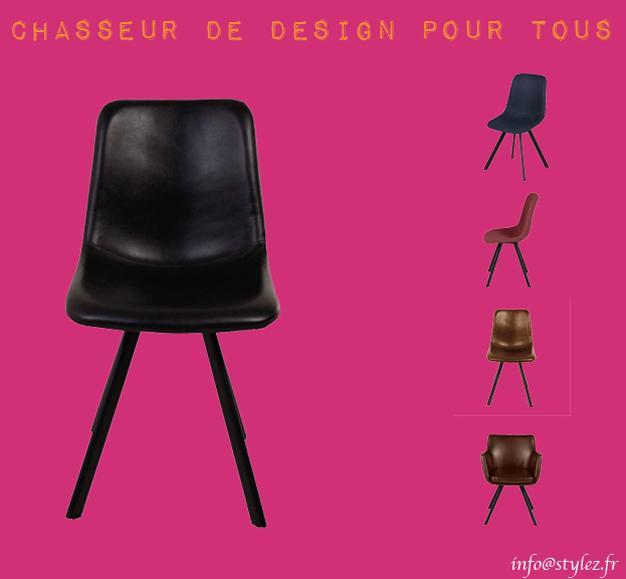 chaise karl marron