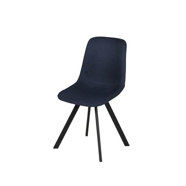 chaise tissu carl bleu