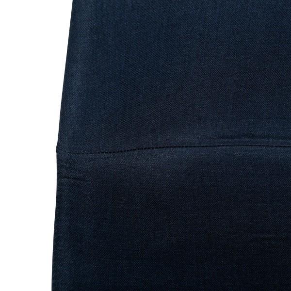 chaise carl en tissu bleu