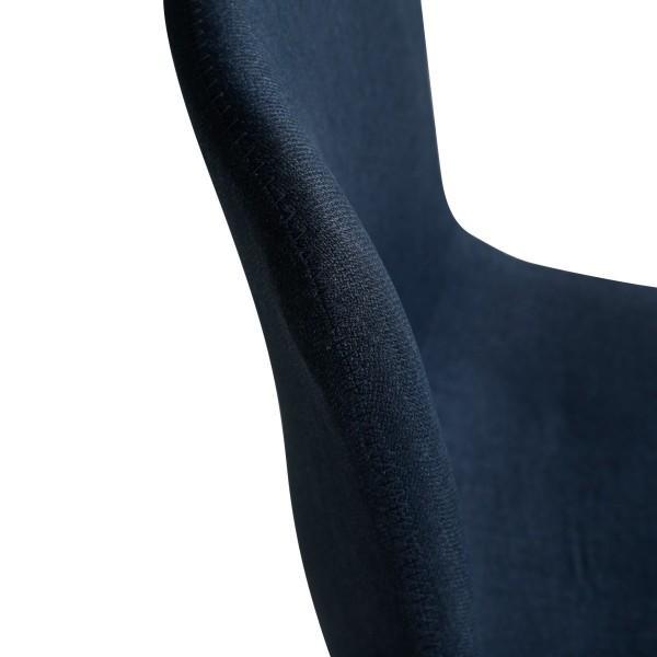 chaise bleu carl tissu