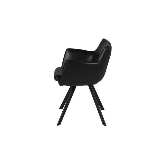 fauteuil style scandinave carl noire