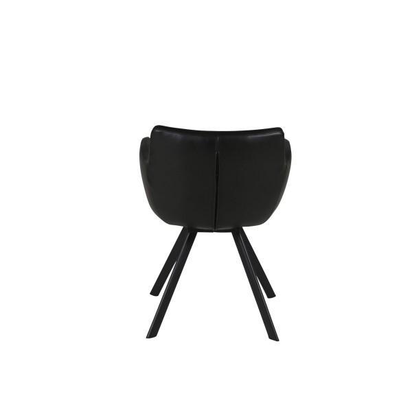 fauteuil en couleurs noir style scandinave