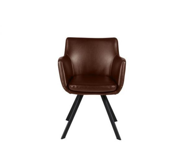 fauteuil cuir et pieds métal noir