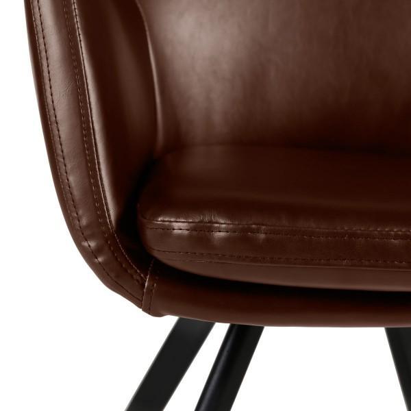 fauteuil pieds métal style scandinave carl