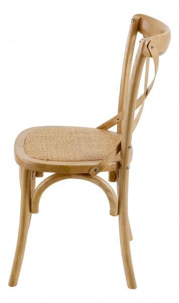 chaise bois vintage clair
