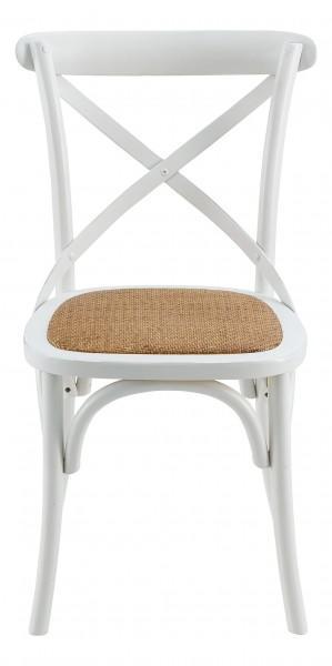 chaise effet vieilli bois blanc