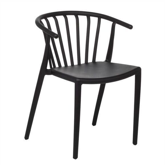 chaise design vintage confortable noir