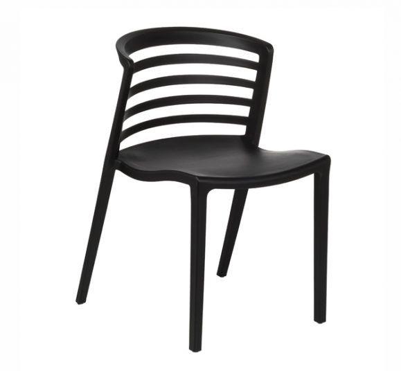 chaise dossier barreaux noir