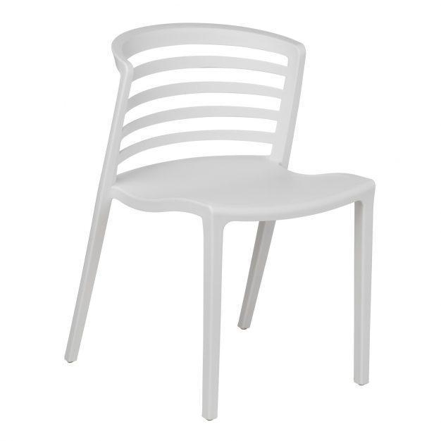 chaise design lumineuse blanche