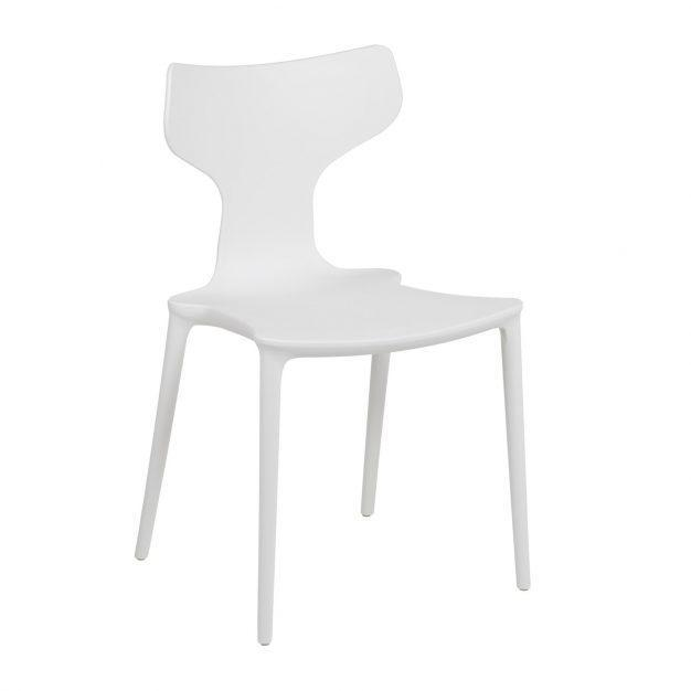 chaise blanche lumineuse dossier