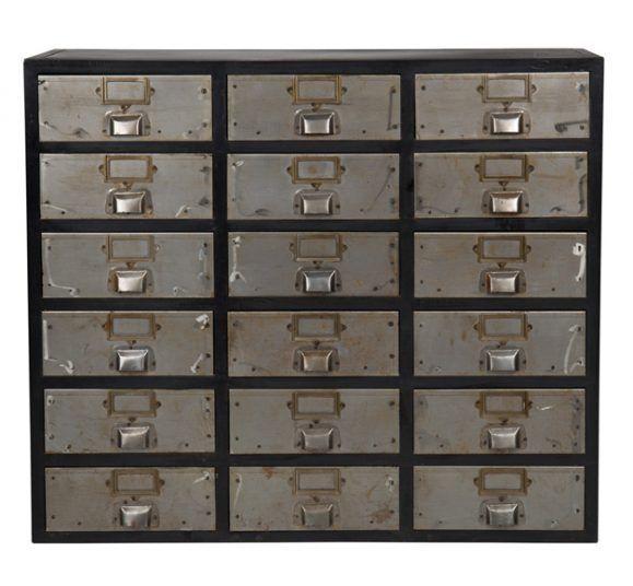commode originale tiroirs industrielle