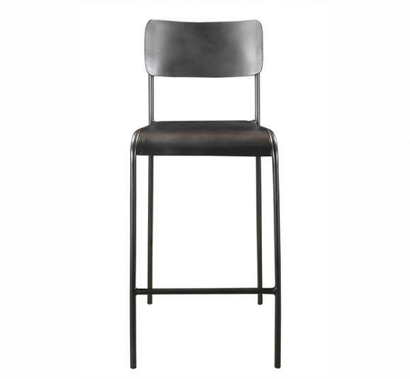 chaise écolière acier lisse vintage