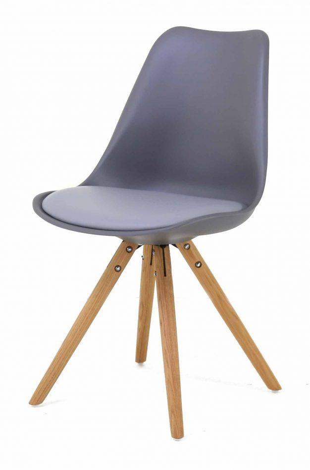 chaise pieds bois scandinave assise violette