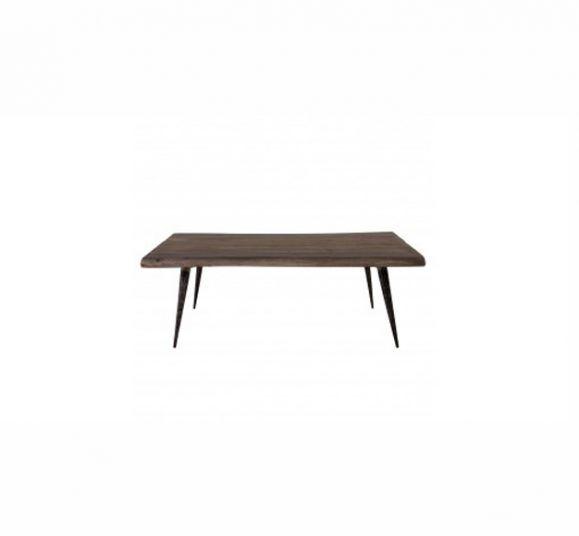 table ela bois et métal noir